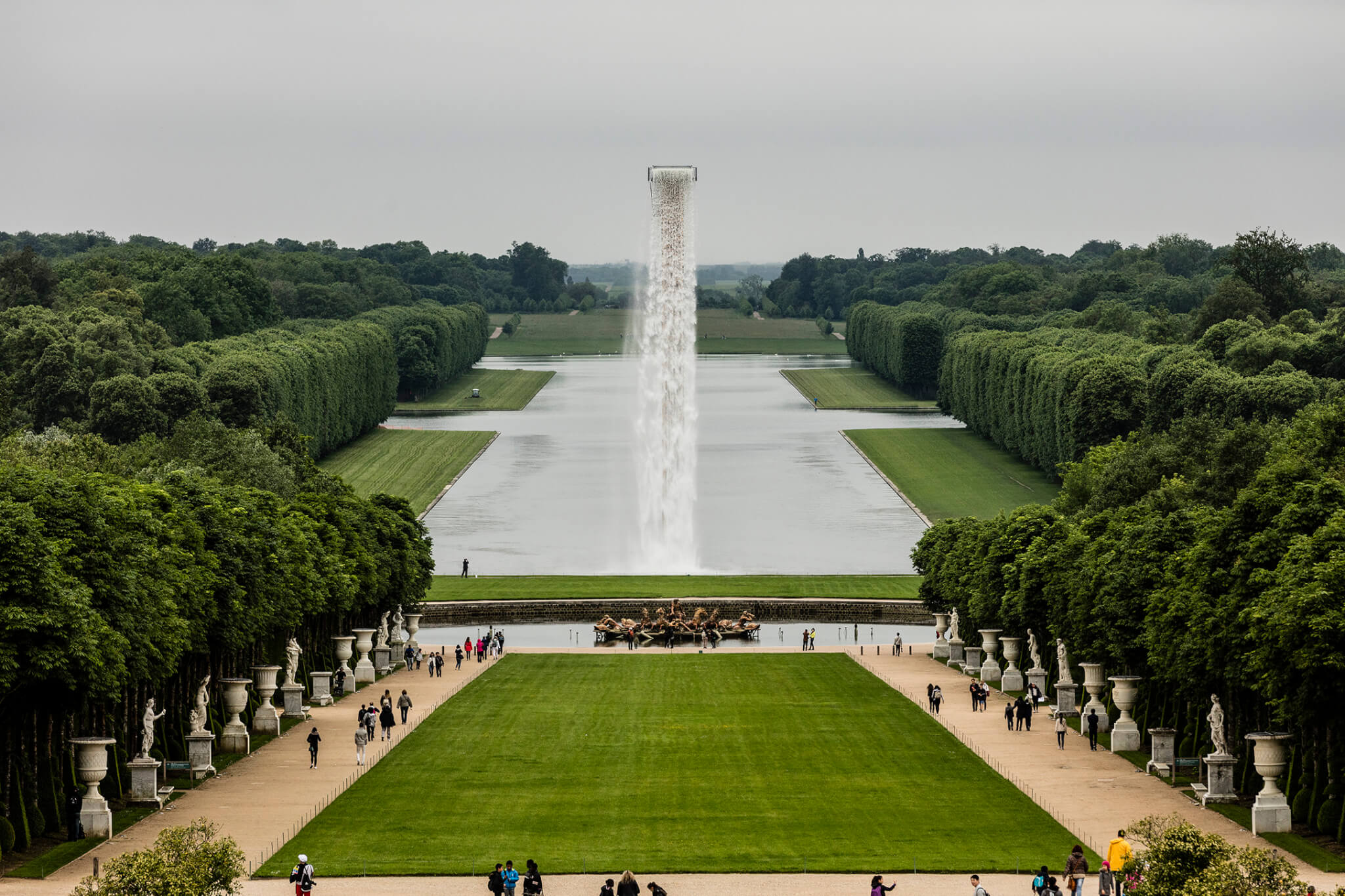 Pieces created by Olafur Eliasson in Versailles