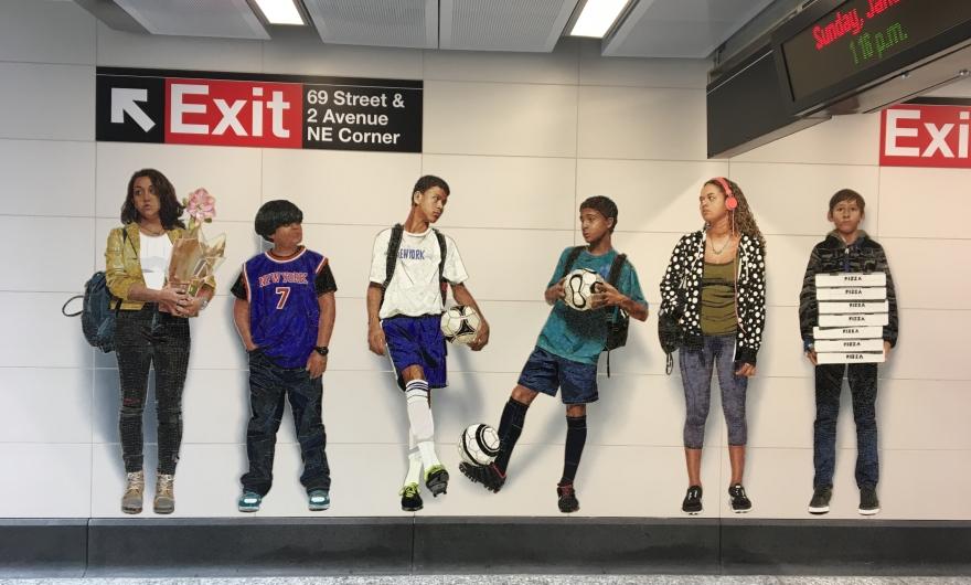 En Nueva York hay arte contemporáneo hasta en el metro