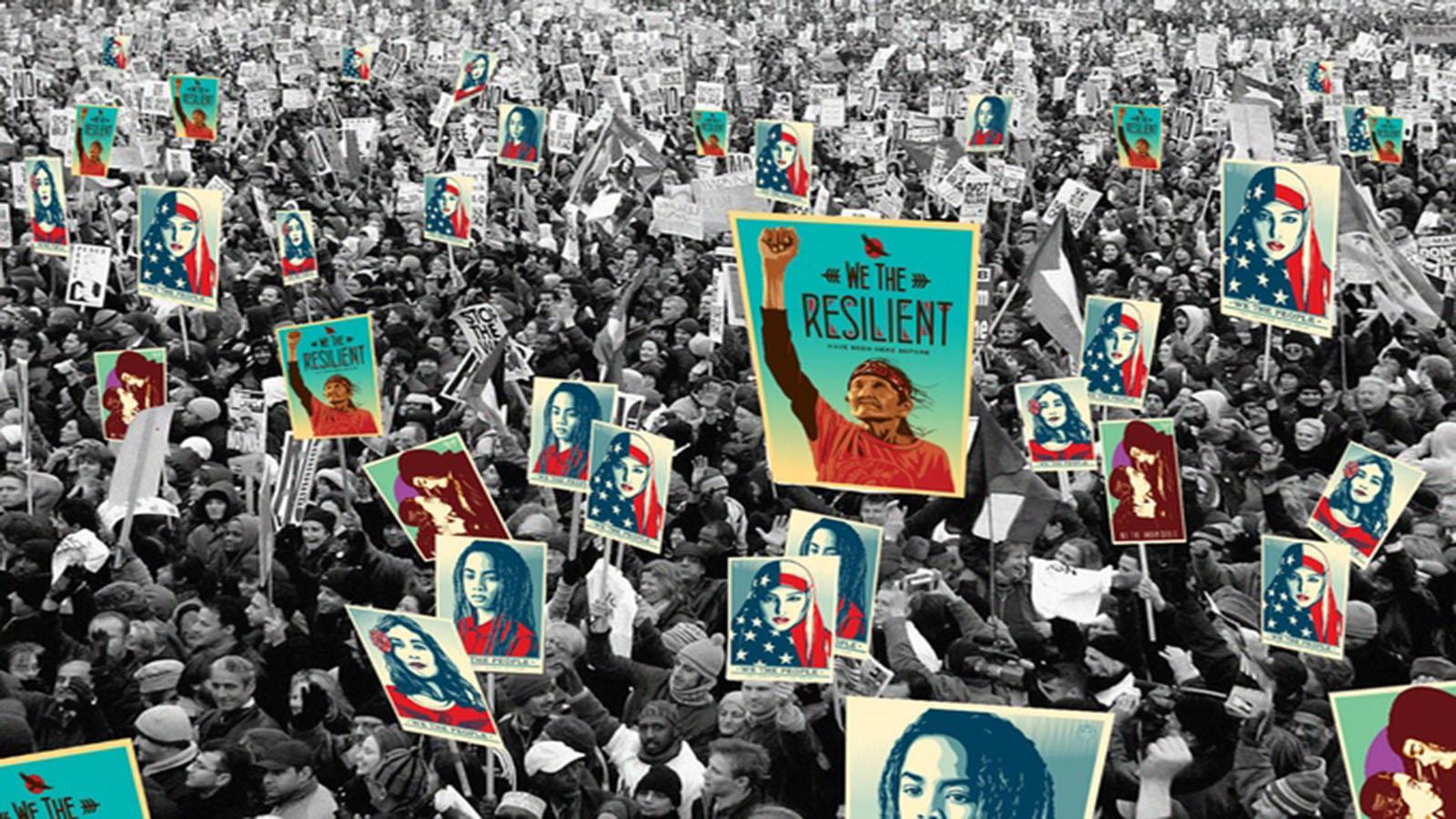 Shepard Fairey: activismo en la toma de protesta de Trump