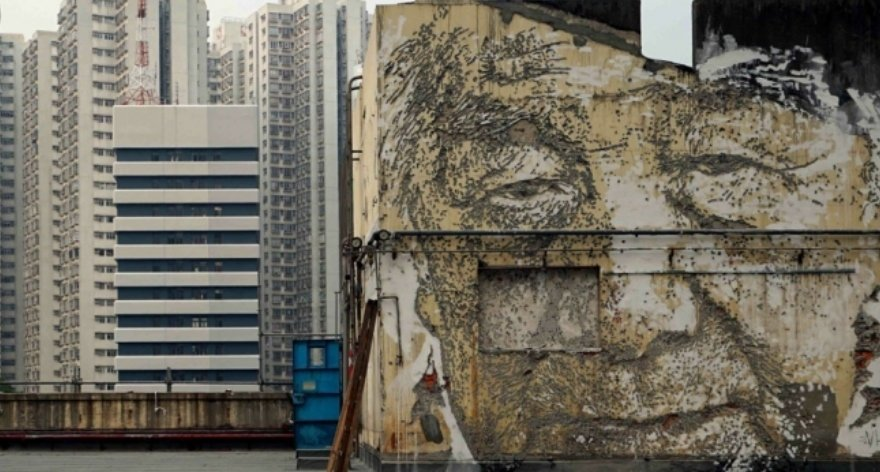 Vhils first exhibition in Hong Kong