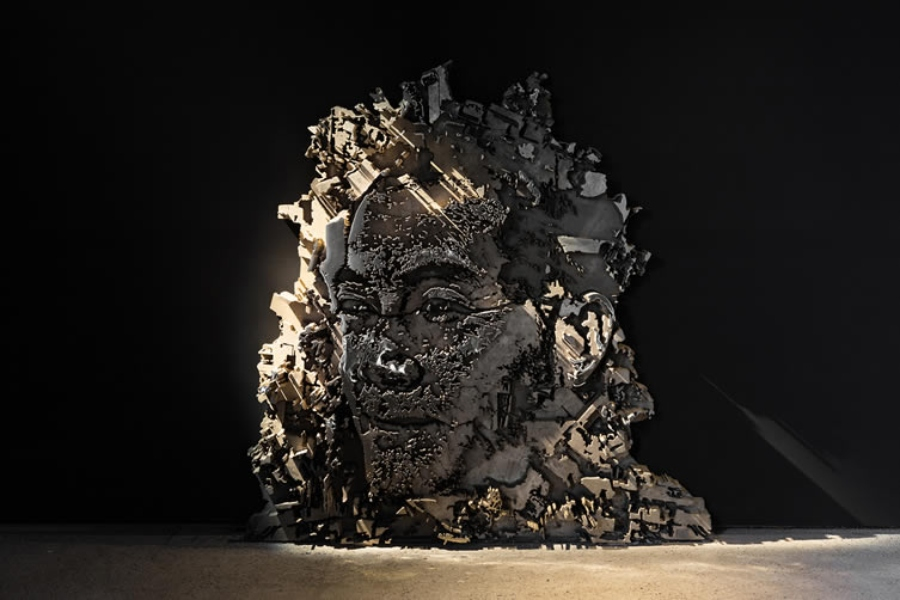 Piece created by Vhils