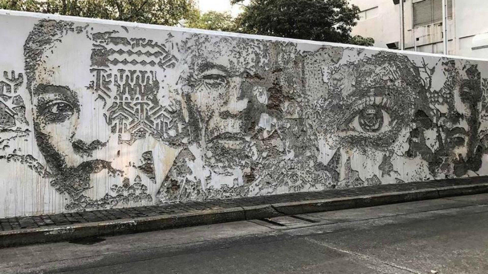 El nuevo mural de Vhils: un homenaje a la ciudad de Bangkok
