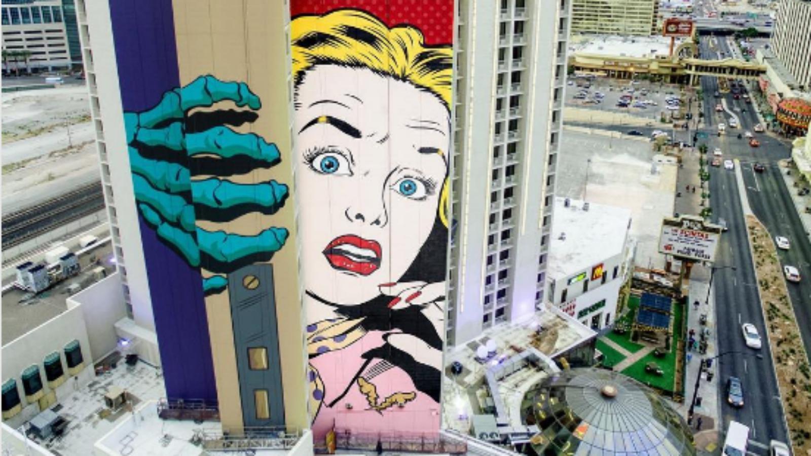 ¡Nuevo mural de D*Face en Las Vegas!?