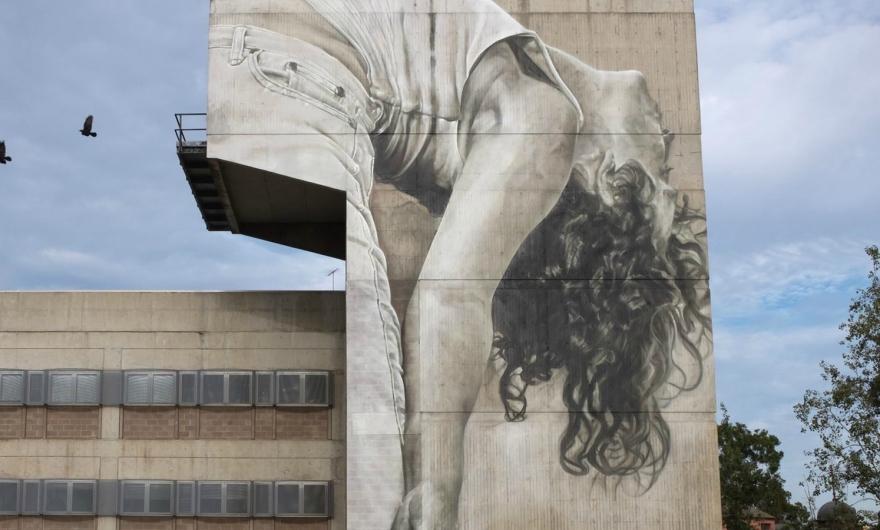 El nuevo mural de Guido Van Helten: el homenaje a la danza contemporánea de Australia