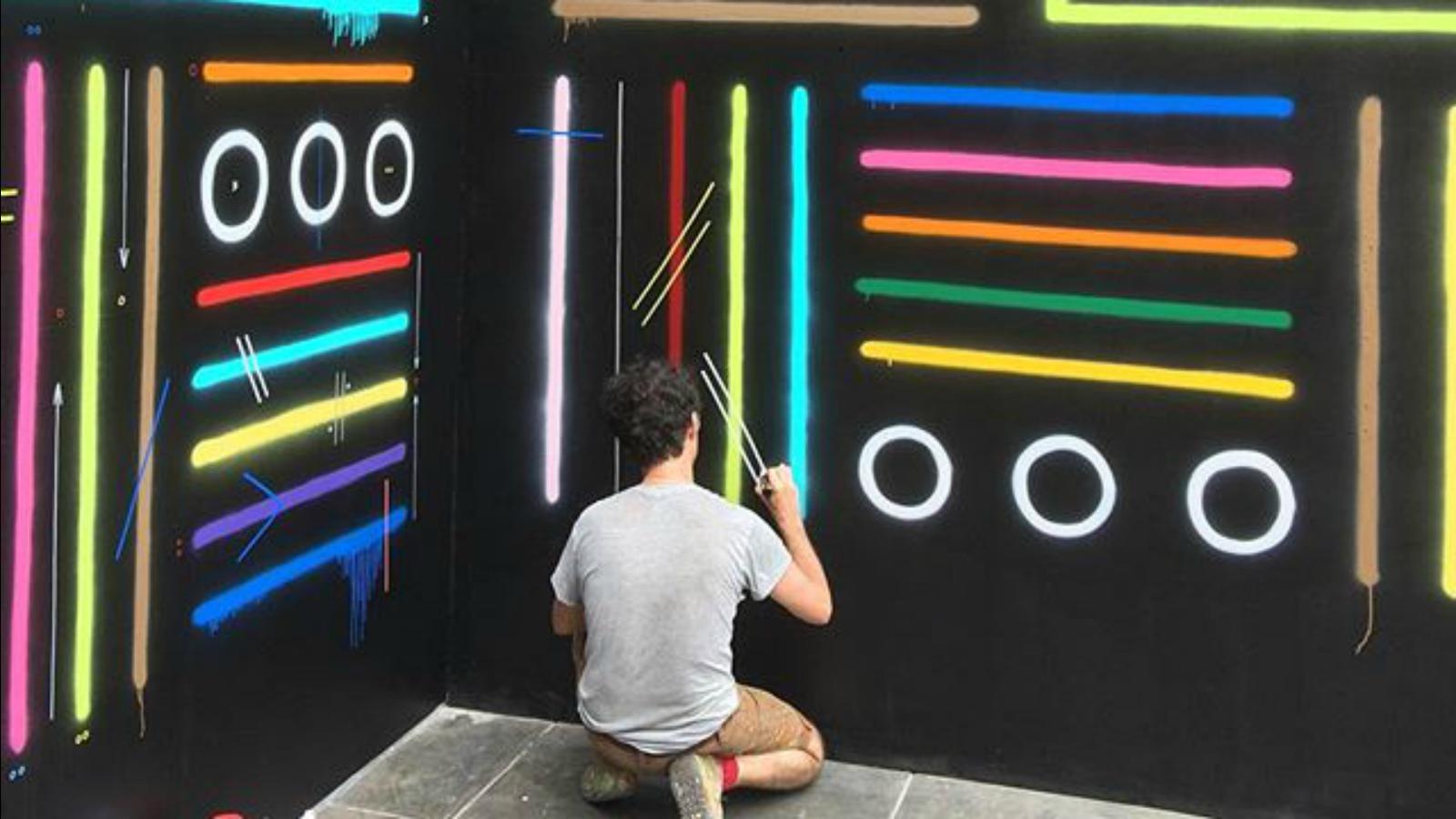 Sixe Paredes pinta murales para el Centro Cultural de España en Perú