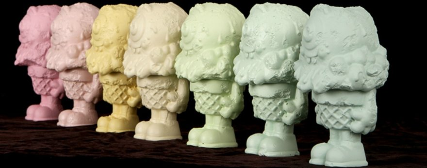 Buff Monster and his ice cream sculptures