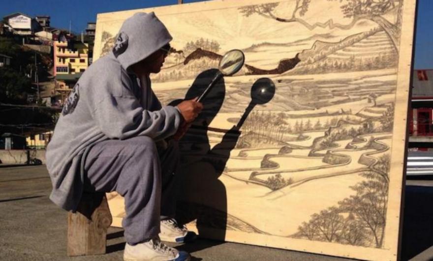 Artista filipino crea obras de arte con rayos solares ?