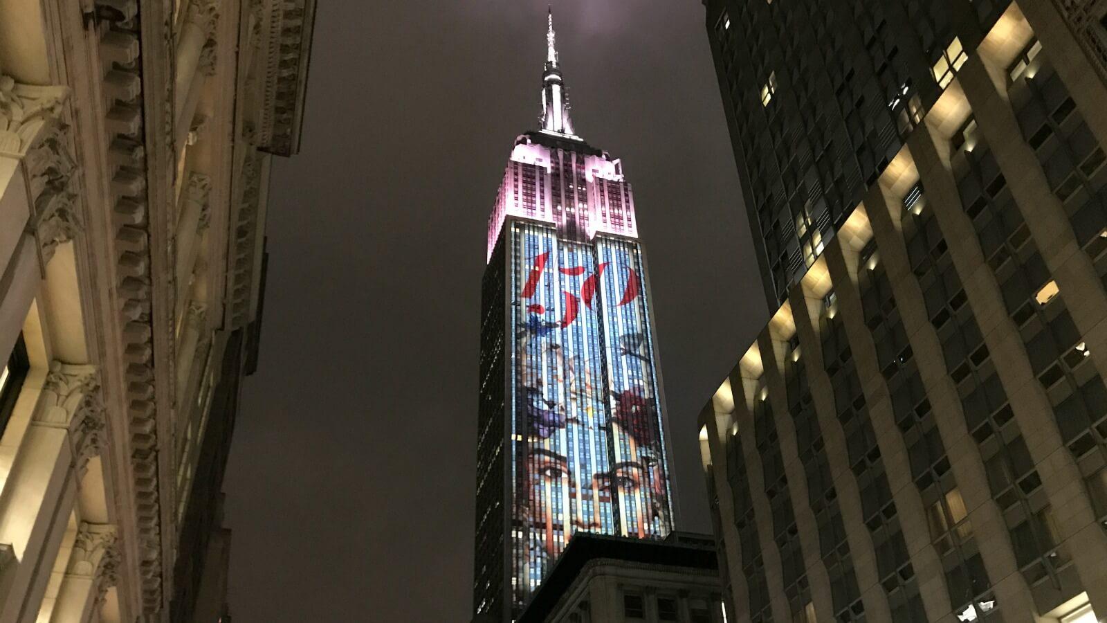 150 imágenes sobre diseño y moda en la fachada del Empire State