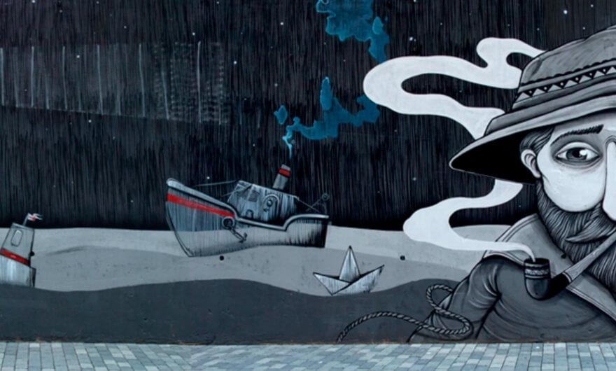 Artistas italianos crean mural que el gobierno busca borrar