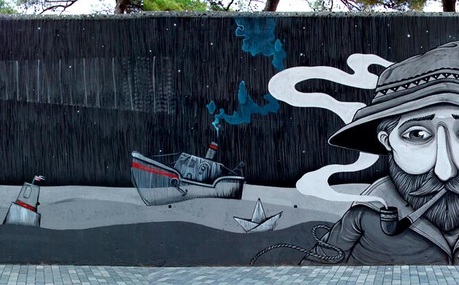 Resultado de imagen para Mr. Fijodor Benzo y SeaCreative murales