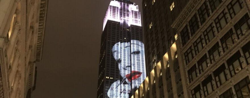 The Empire State illuminated its façade with fashion