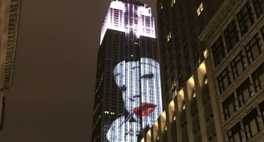 The Empire State illuminated its façade with fashion