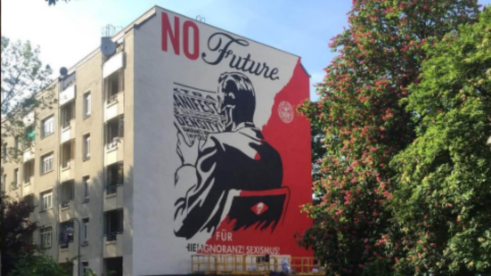 Nuevo mural de Shepard Fairey para Urban Nation