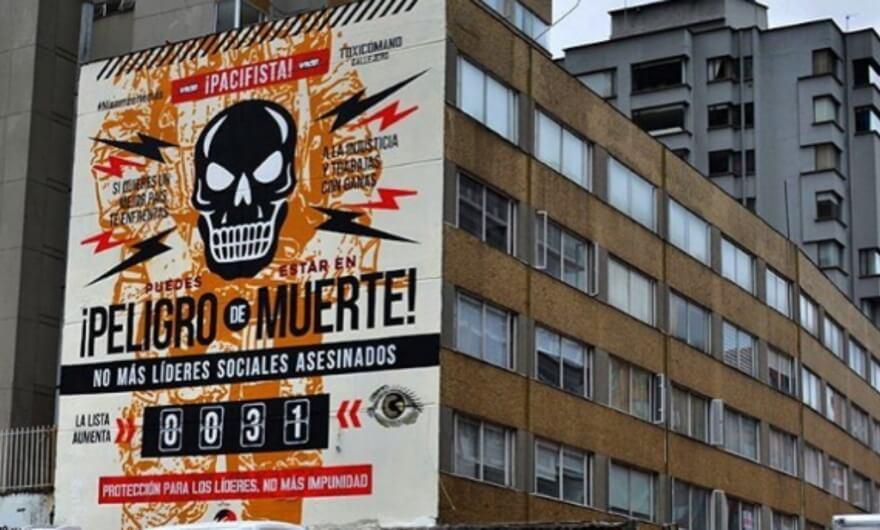 Toxicómano Callejero crea mural para recordar a los desaparecidos en Colombia