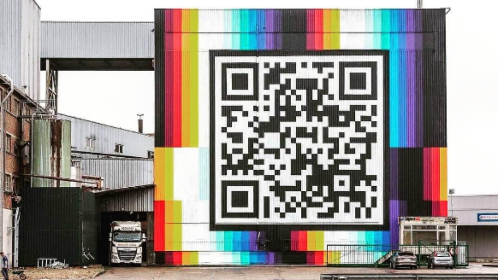 Pantone pinta código QR más grande del mundo ?