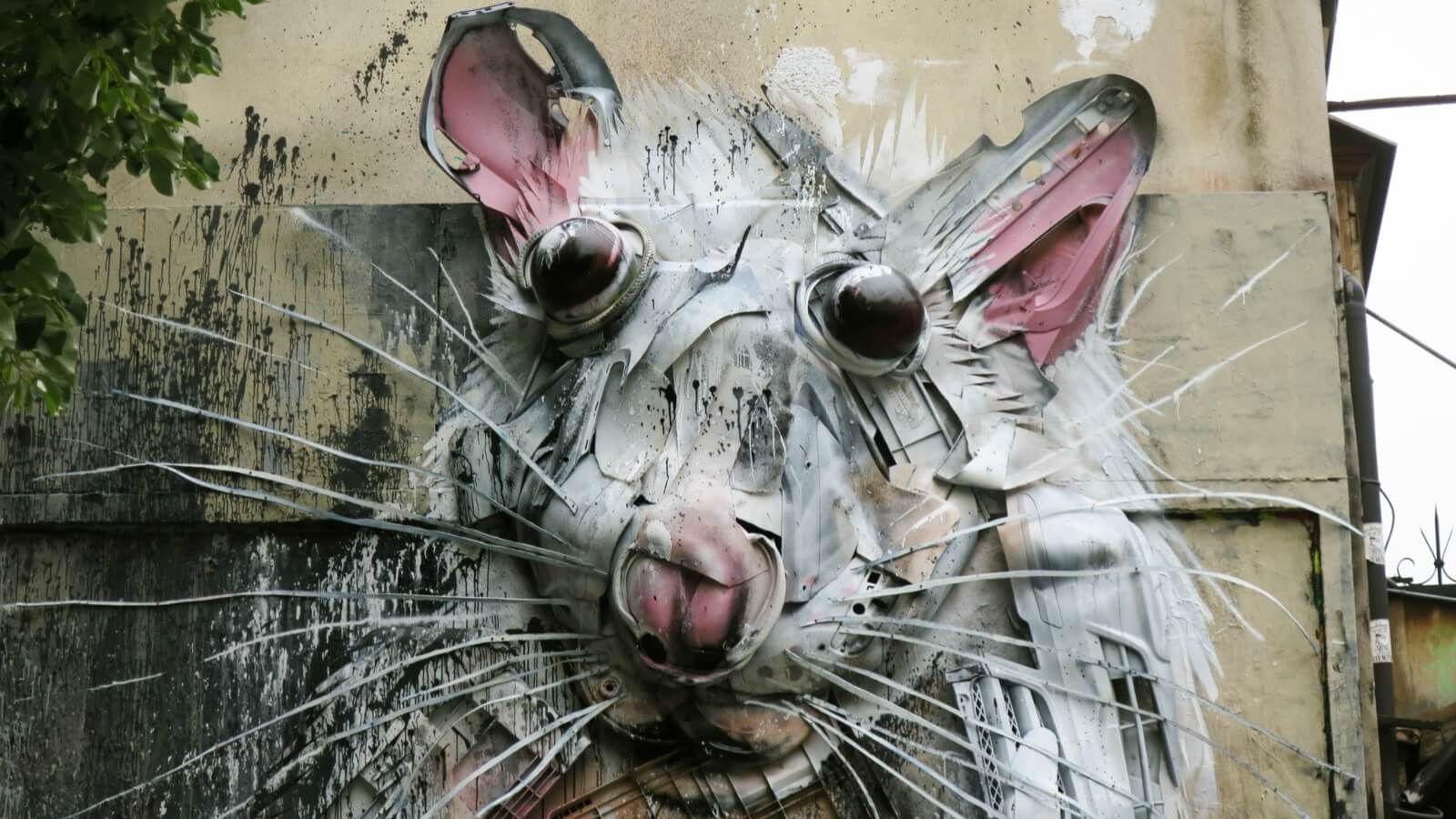 El nuevo mural con material reciclable de Bordallo II en París ♻