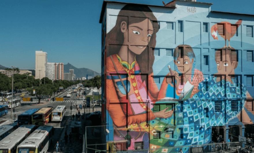Brasil tiene el mural más grande del mundo que haya pintado una artista