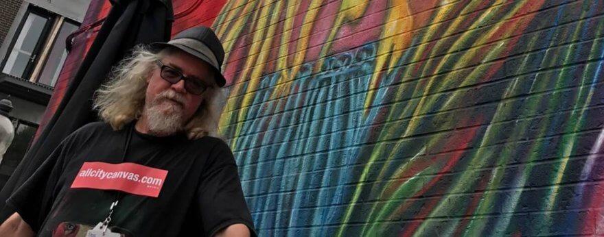 Entrevista con Ron English en el Mural Festival 2017