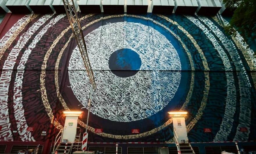 Said Dokins realiza el mural más grande de Múnich?