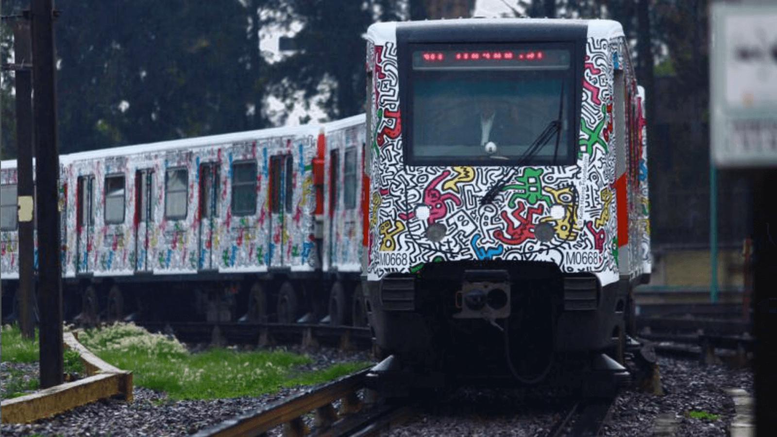 Tren con obra de Keith Haring recorrerá Metro de la Ciudad de México