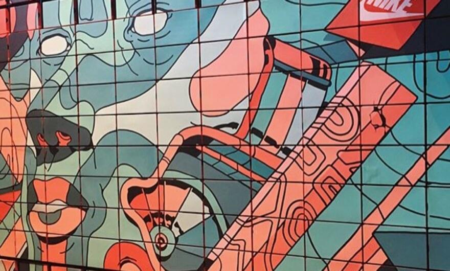 Smithe interviene muro en colaboración con Nike en la CDMX