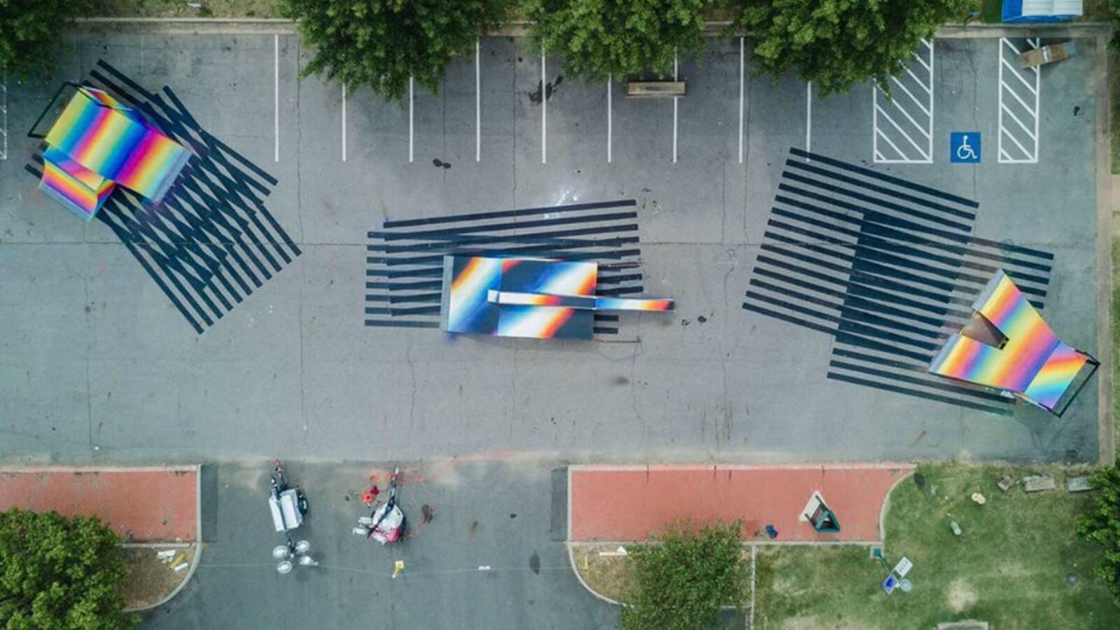 Felipe Pantone and Saner reunited at art festival in the U.S.
