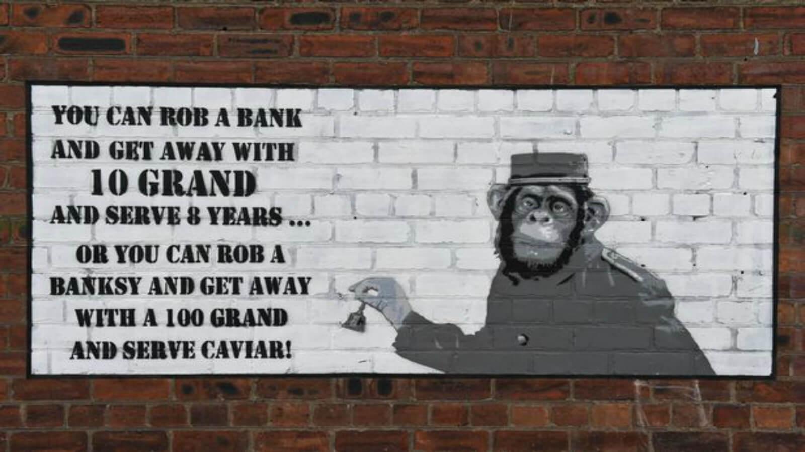 Banksy bajo sospecha de nuevo mural que critica a los coleccionistas de su arte