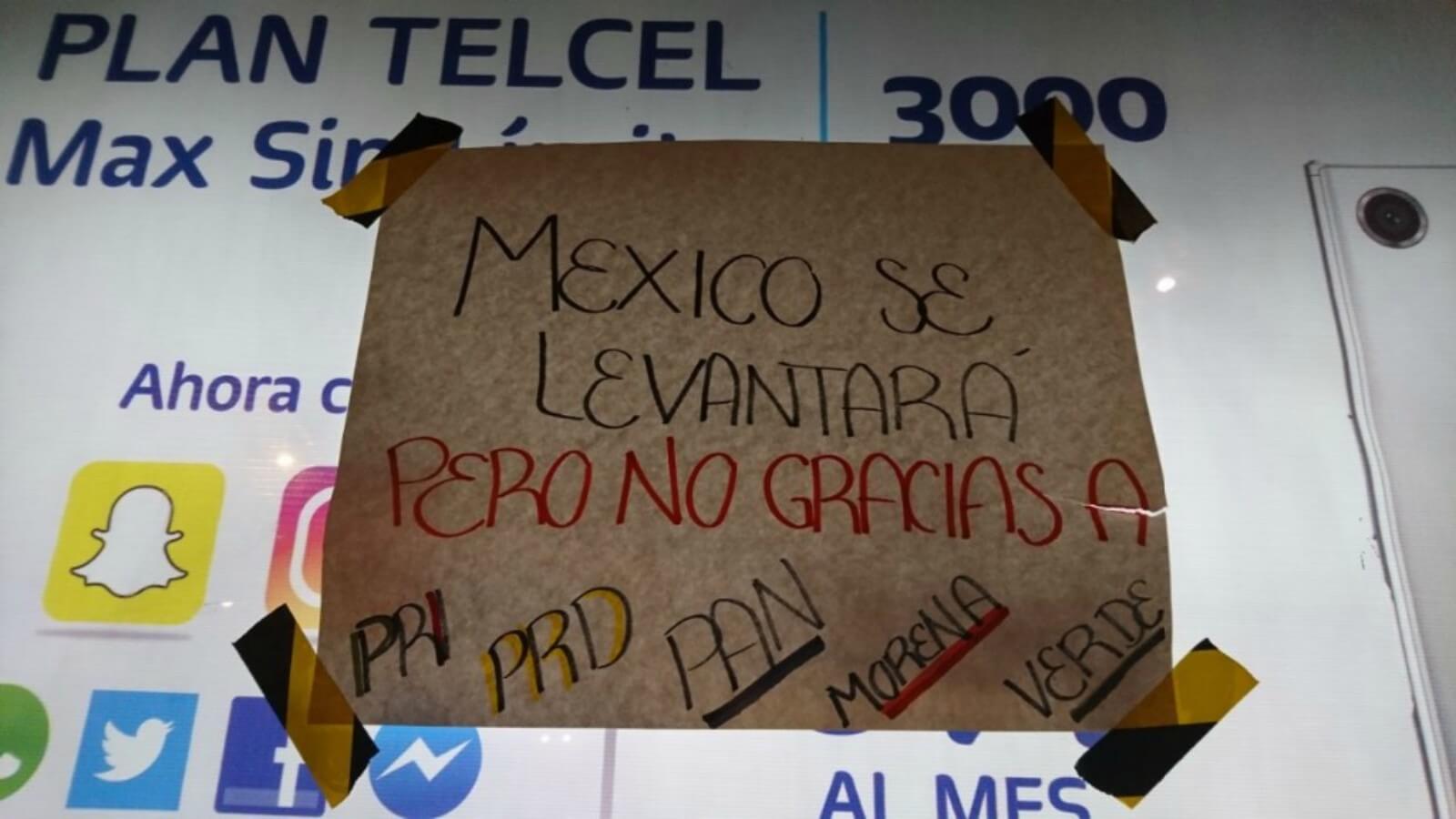 La Ciudad de México se llena de mensajes de apoyo en las calles