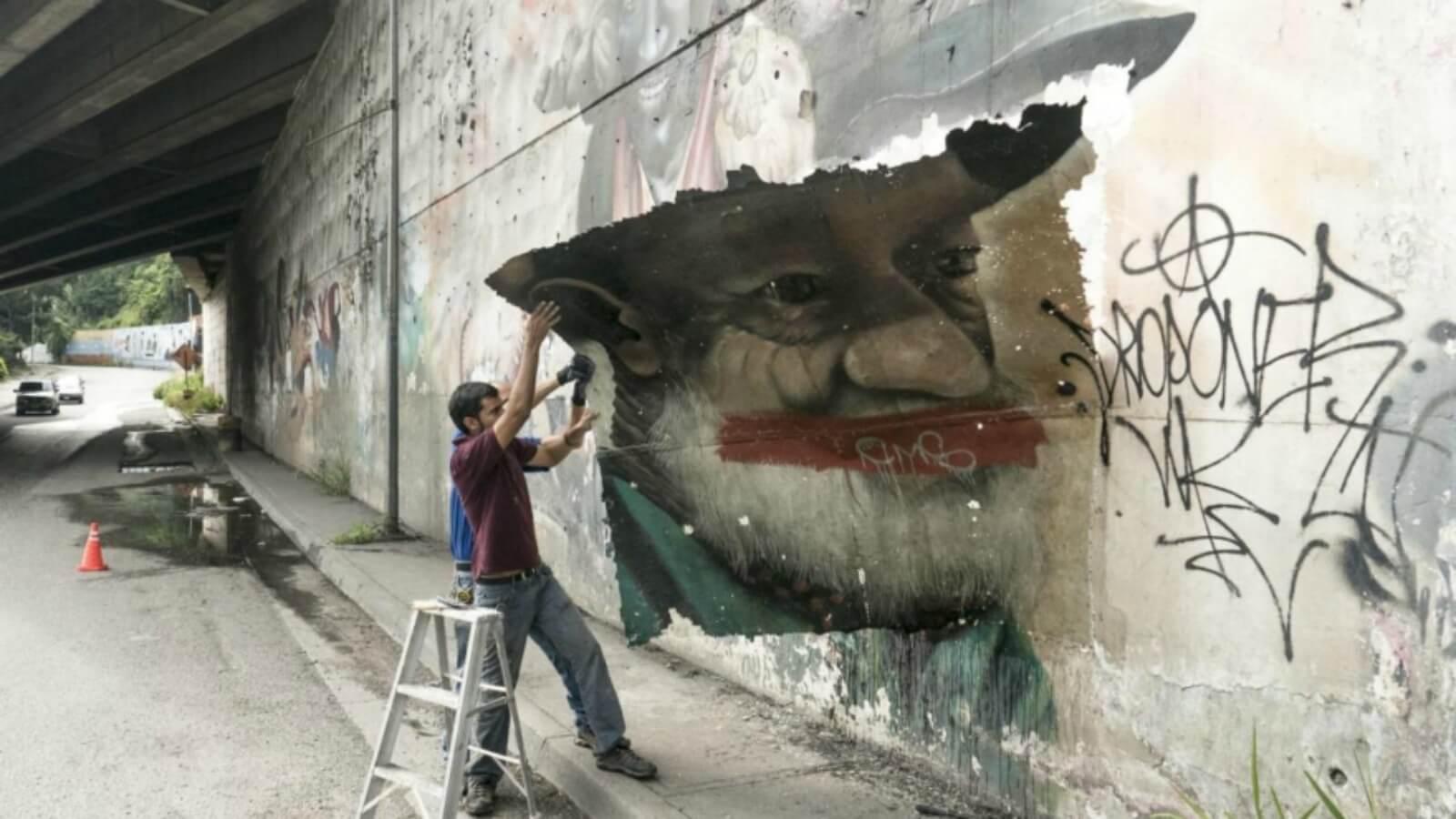 Artista se dedica a robar arte callejero para exhibirlo en galerías