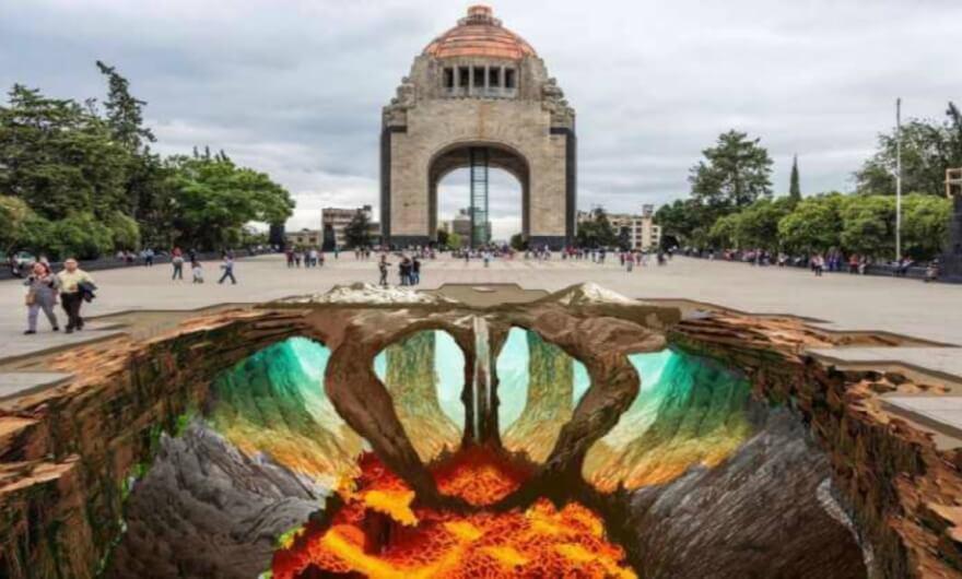 Edgar Müller y Juandrés Vera intervienen la Plaza de la República de la CDMX