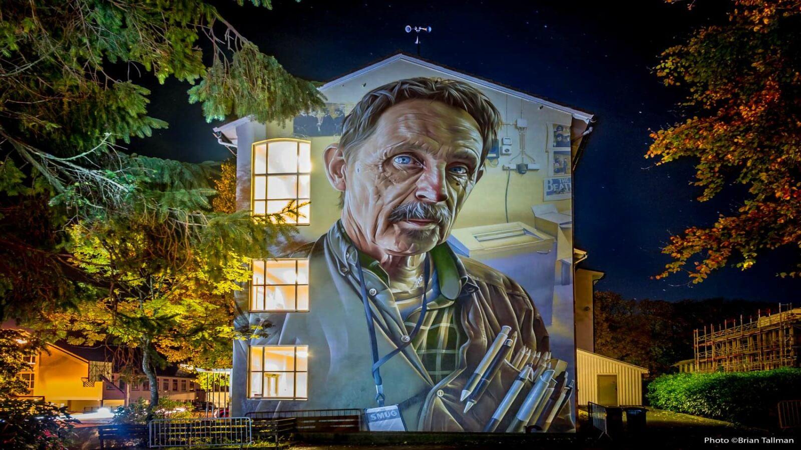 El mural de Smug One para Nuart Festival: aumentar el acceso al arte