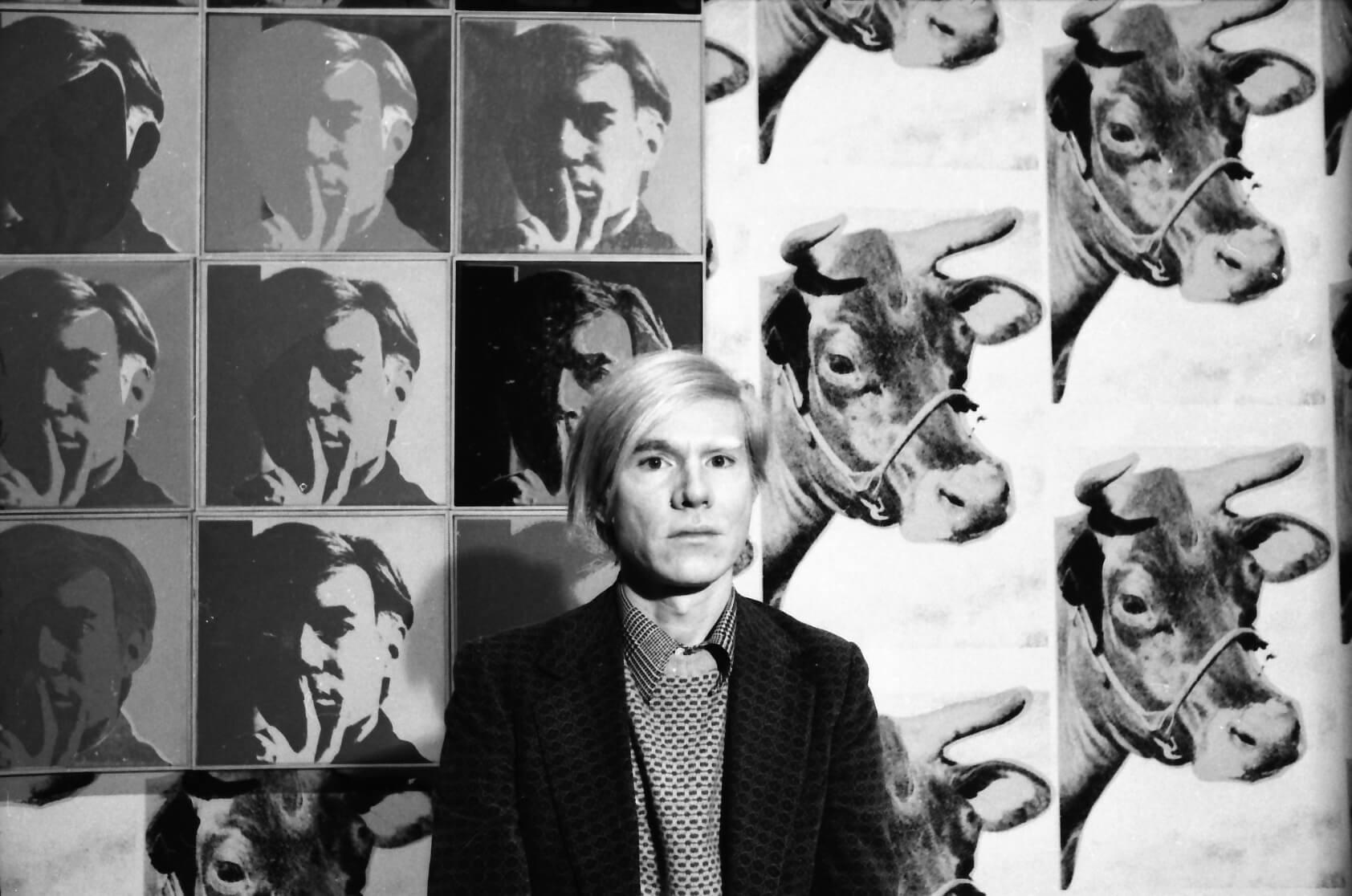 Andy Warhol at his May 1971