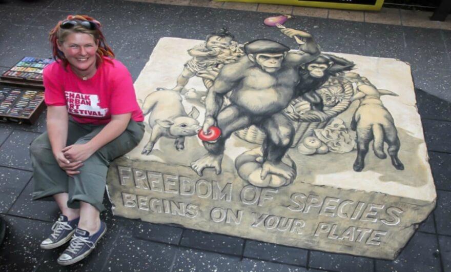 Festival Chalk: pinturas efímeras en los suelos creadas con gis ✍