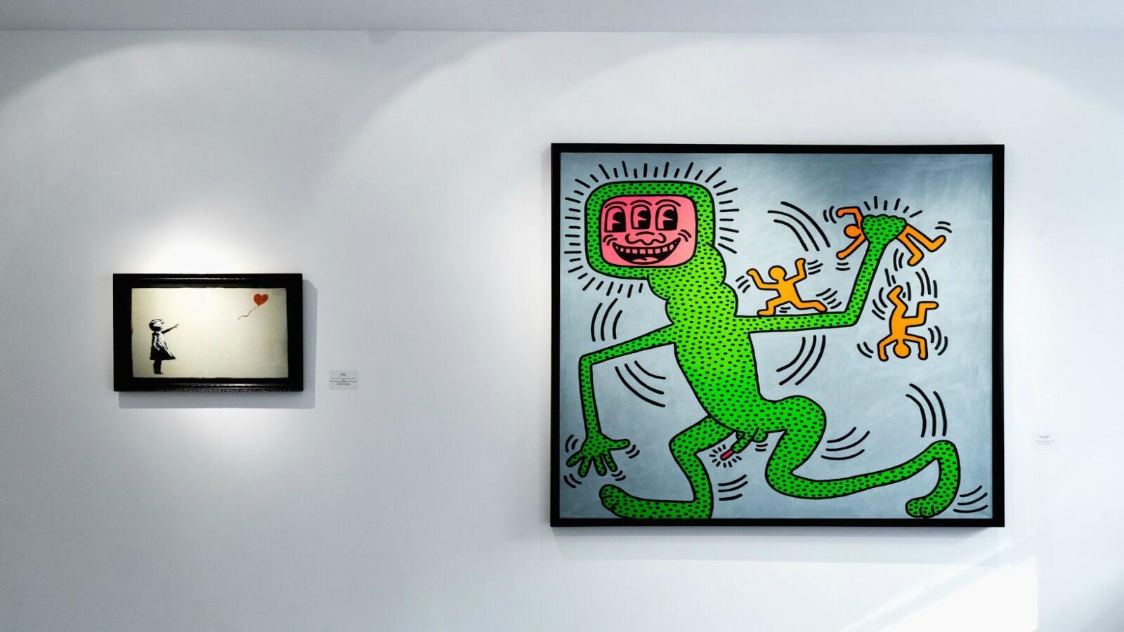 Exposición reúne a Keith Haring y Banksy en Nueva York