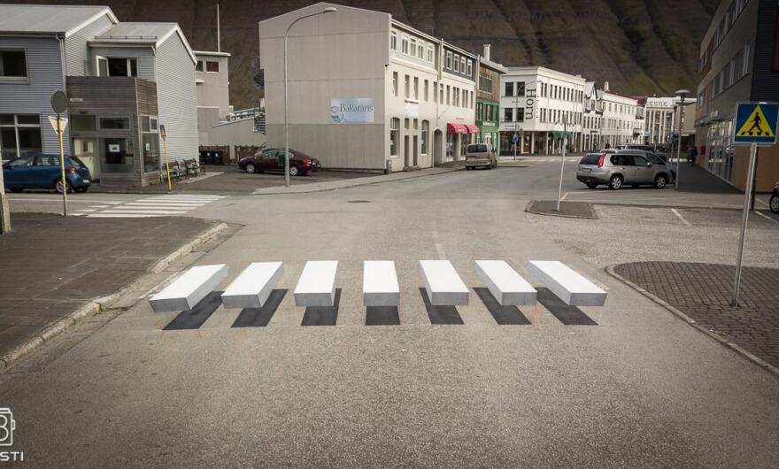 Islandia ya tiene cruce peatonal en 3D
