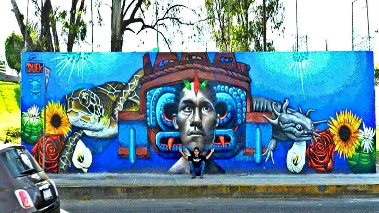 Propaganda política borra mural en Tlalpan?