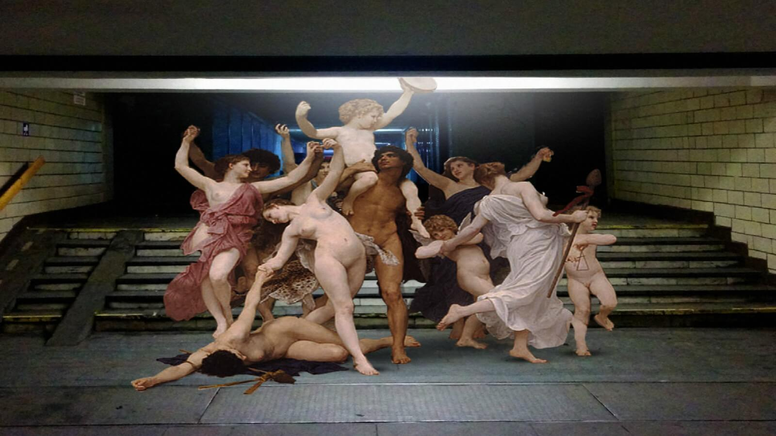 Cuando las pinturas clásicas visitan el mundo de hoy