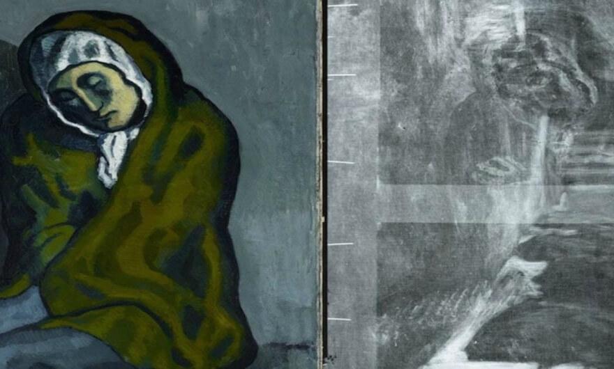 Se revela pintura escondida debajo de un Picasso