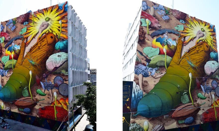 Despertar de lo invisible – El nuevo mural de LIQUEN