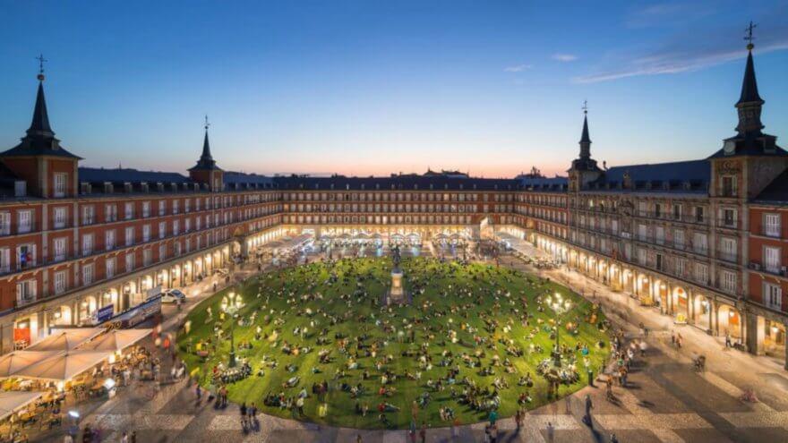 SpY en la Plaza Mayor de Madrid