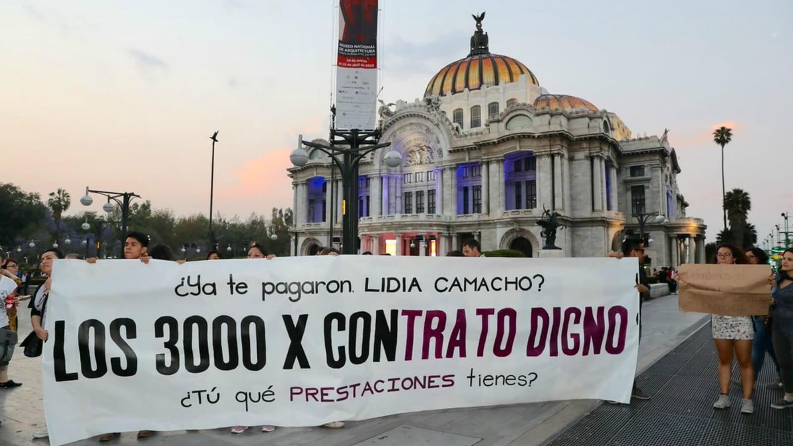 #YaPágameINBA, una protesta de los trabajadores de la Cultura