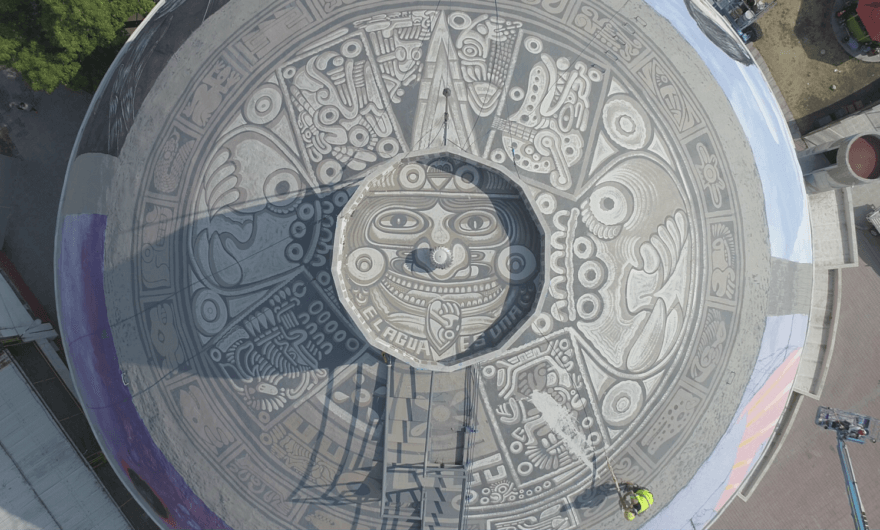 El Festival Intercultural de Muralismo, sobre el agua, la vida y la unidad