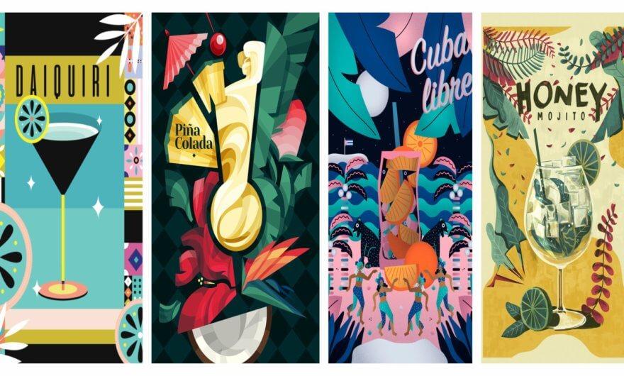 Ilustradores mexicanos reinventan clásicas bebidas