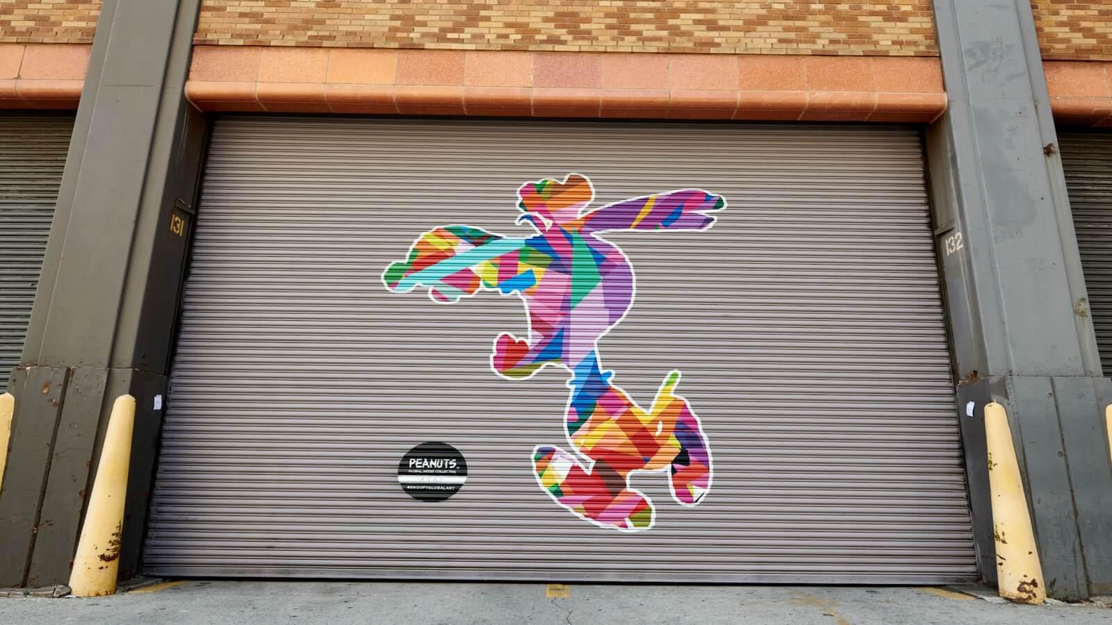 Peanuts llevado a las calles gracias al Arte Urbano