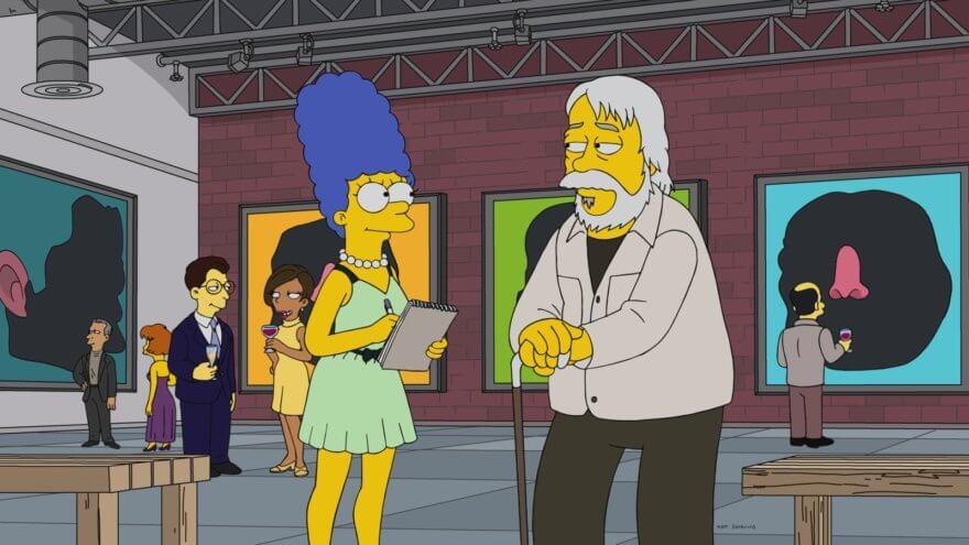 John Baldessari en Los Simpsons