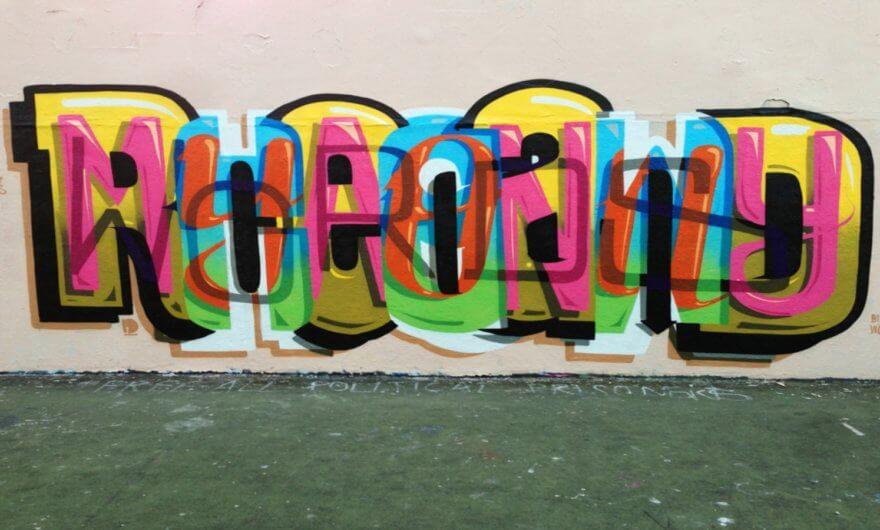 Los murales tipográficos de Peter Preffington