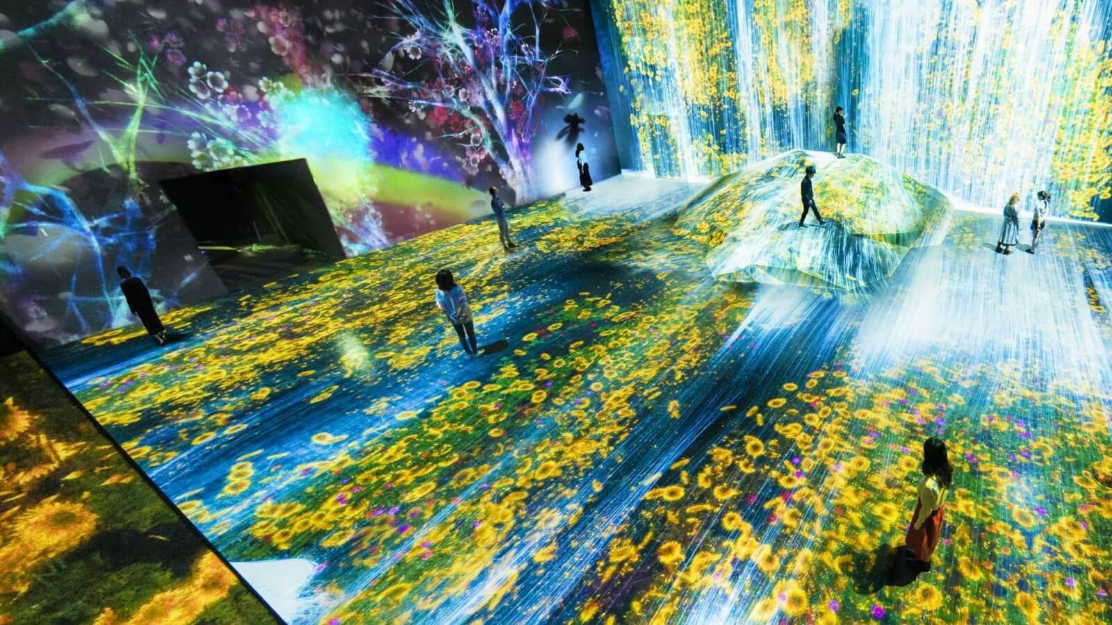 Un Museo digital en Tokio mezcla la realidad con la naturaleza