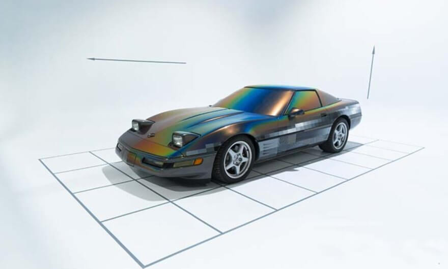 Felipe Pantone intervino un Corvette 1994 para Beyond the Streets