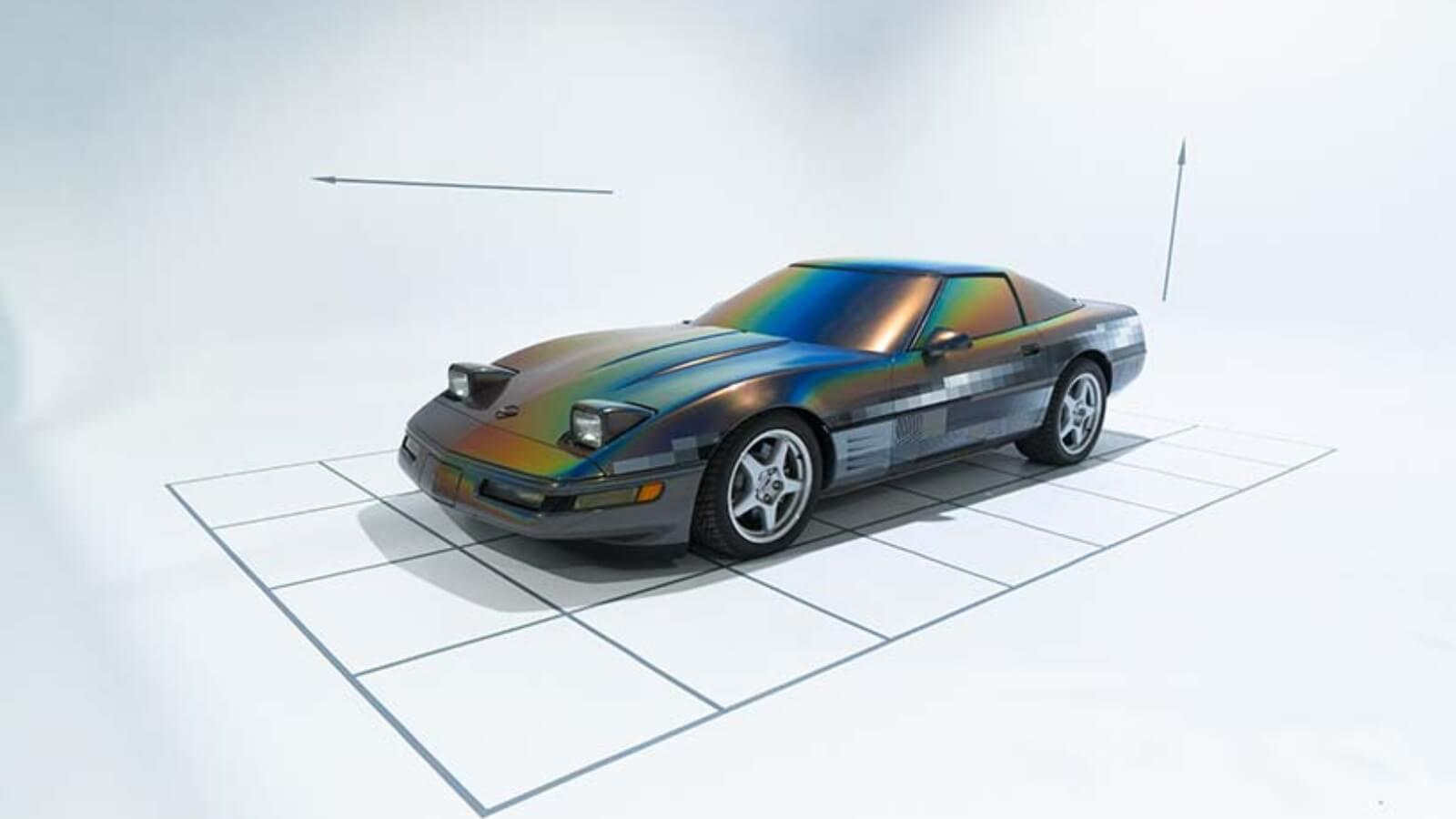 Felipe Pantone intervino un Corvette 1994 para Beyond the Streets