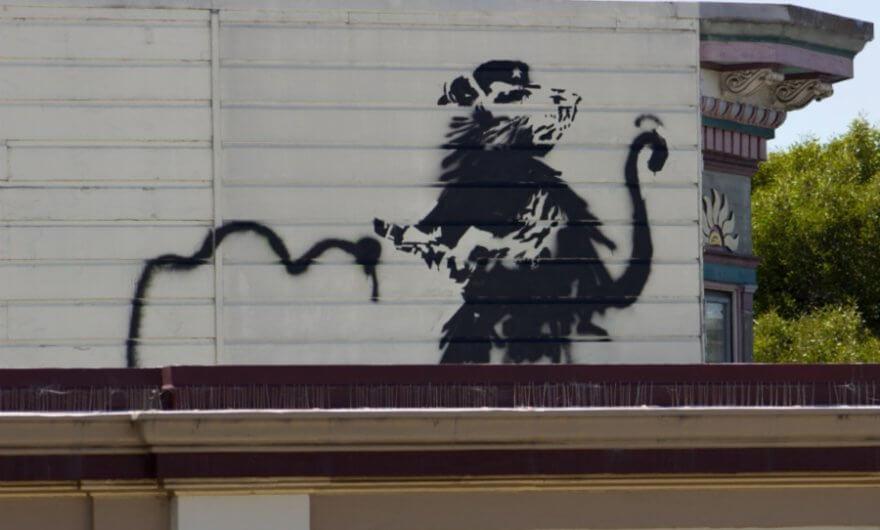 Rata de Banksy en muro